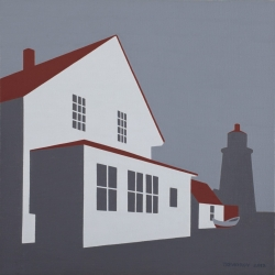 "Grey Lighthouse 2012  12"" x 12"""