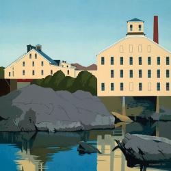 """Bowdoin Mill  2000 12"""" x 12"""""""
