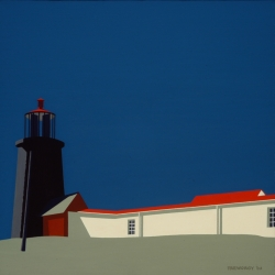 Monhegan Lighthouse before Storm 2002